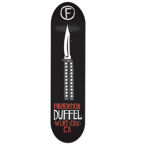 Foundation Corey Duffel Rumble - Black - 7.75 - Skateboard Deck