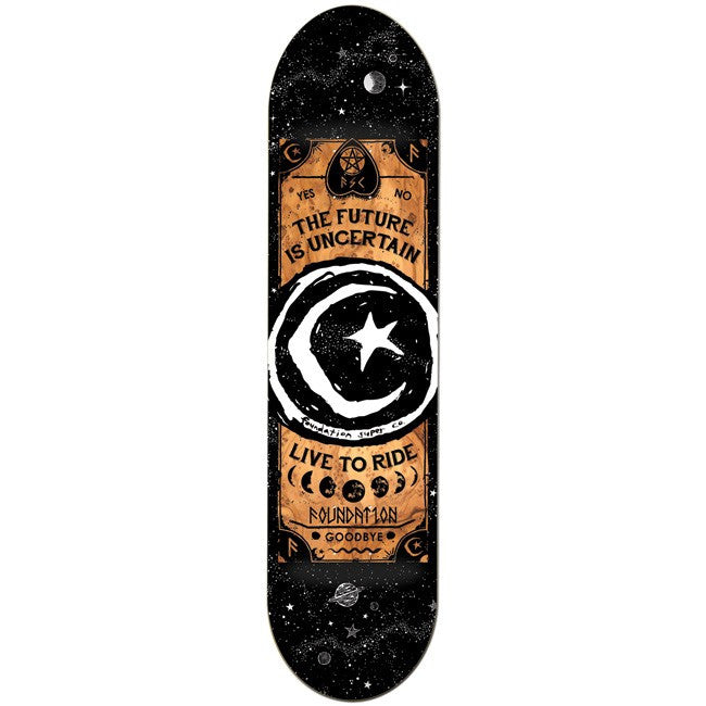Foundation Star & Moon Ouija -  Black/Gold - 8.0 - Skateboard Deck