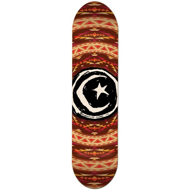 Foundation Star & Moon Native -  Orange/Burgundy - 7.875 - Skateboard Deck