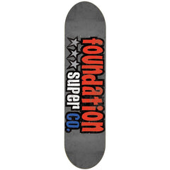 Foundation 3 Star - Grey/Red - 8.25 - Skateboard Deck