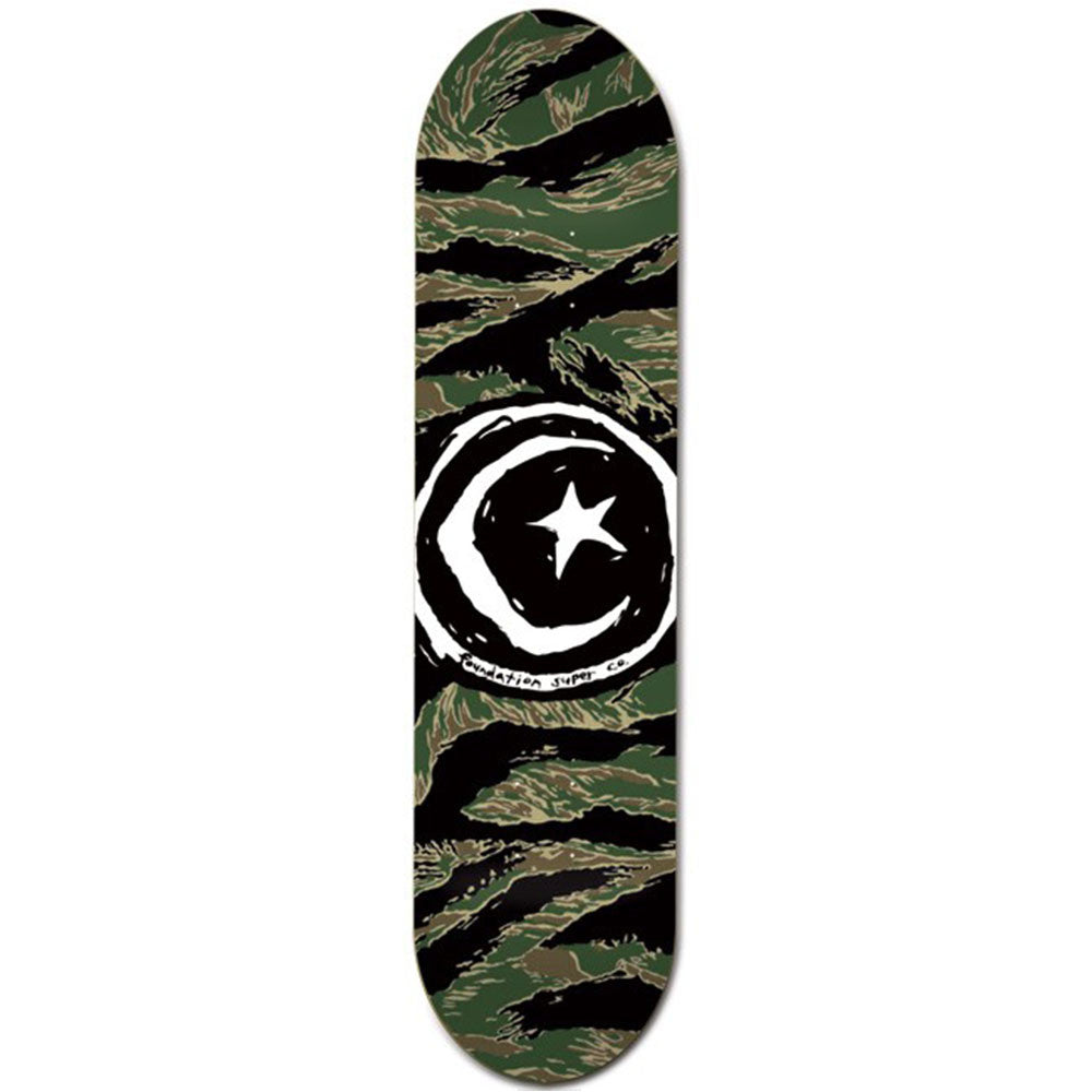 Foundation Star & Moon - Tiger Camo - 8.5 - Skateboard Deck