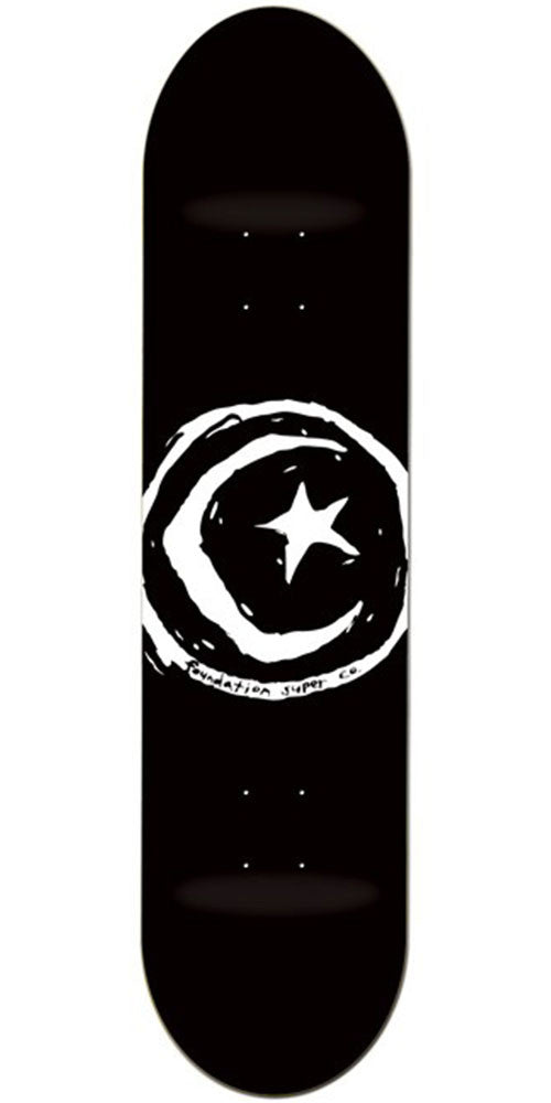 Foundation Star & Moon - Black - 8.375in - Skateboard Deck