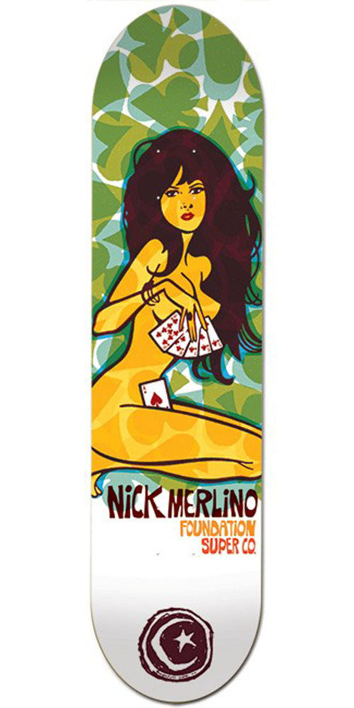 Foundation Merlino Strip Poker - Multi - 8.25in - Skateboard Deck