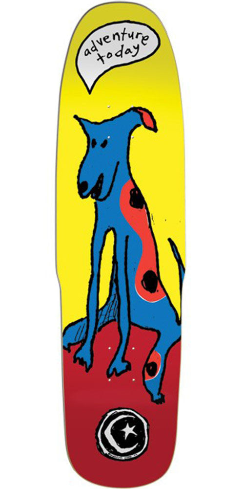 Foundation Adventure Today Cruiser - Yellow/Red - 8.75in - Skateboard Deck