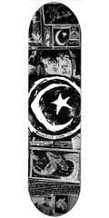 Foundation Star & Moon Zine - Black/White -8.5in x 32.375 - Skateboard Deck