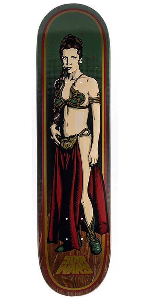 Santa Cruz Star Wars Slave Leia - Green/Red/Brown - 7.8in x 31.7in - Skateboard Deck