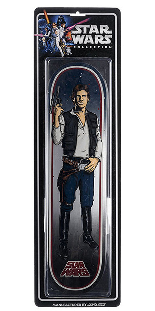 Santa Cruz Star Wars Han Solo Collectible - Blue/White/Black - 8.26in x 31.7in - Skateboard Deck