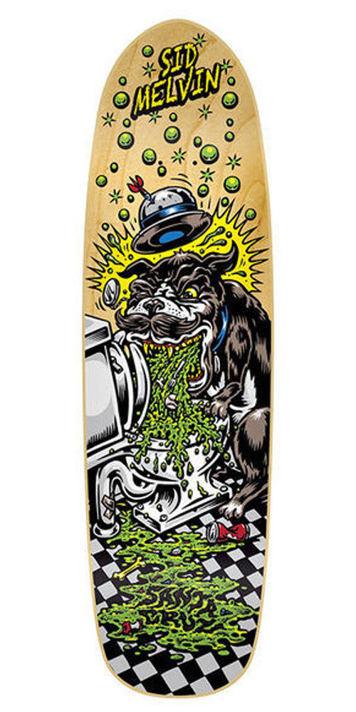 Santa Cruz Melvin Sick Dog - Multi - 8.8in x 31.8in - Skateboard Deck
