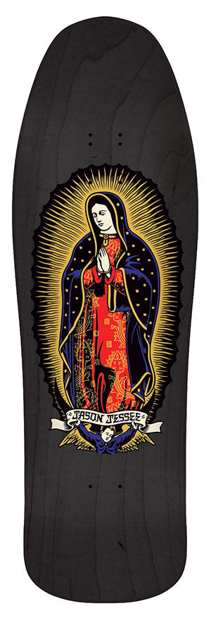 Santa Cruz Jessee Guadalupe Black N Gold Reissue - Black/Gold - 9.9in x 31.8in - Skateboard Deck