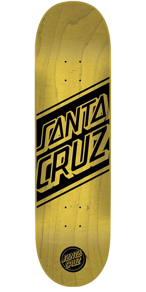 Santa Cruz Black Strip - Natural/Black - 8.3in x 32.2in - Skateboard Deck