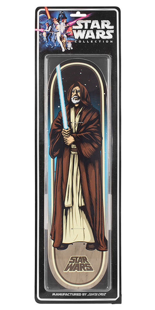 Santa Cruz Star Wars Obi-Wan Kenobi Collectible - Multi - 31.7in x 8.26in - Skateboard Deck
