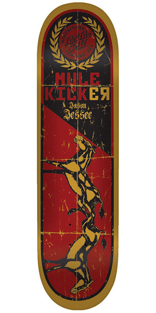 Santa Cruz Jessee Mulekicker - Red - 32.2in x 8.5in - Skateboard Deck