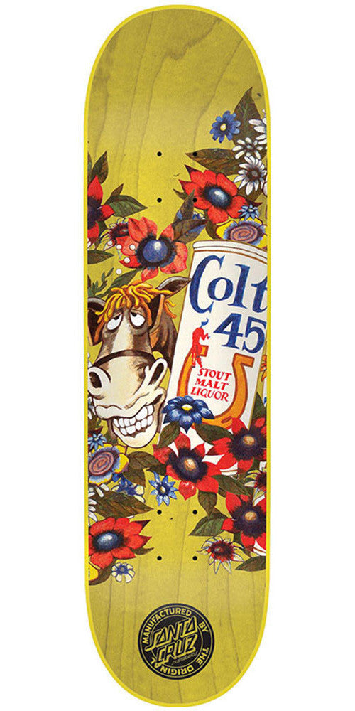 Santa Cruz PBC Colt 45 Spicoli - Yellow - 31.9in x 8.2in - Skateboard Deck