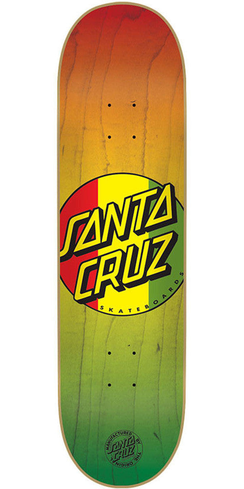 Santa Cruz Rasta Dot - Rasta - 31.6in x 8.0in - Skateboard Deck