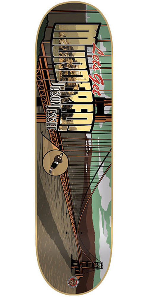 Santa Cruz Jessee Get Murdered - Multi - 32.2in x 8.5in - Skateboard Deck