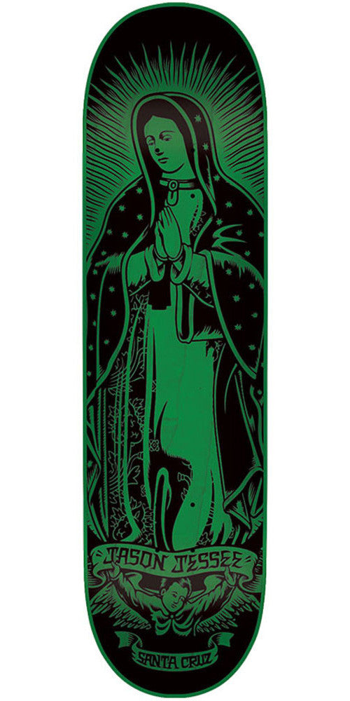 Santa Cruz Jessee Guadalupe Eight Five - Green - 32.2in x 8.5in - Skateboard Deck