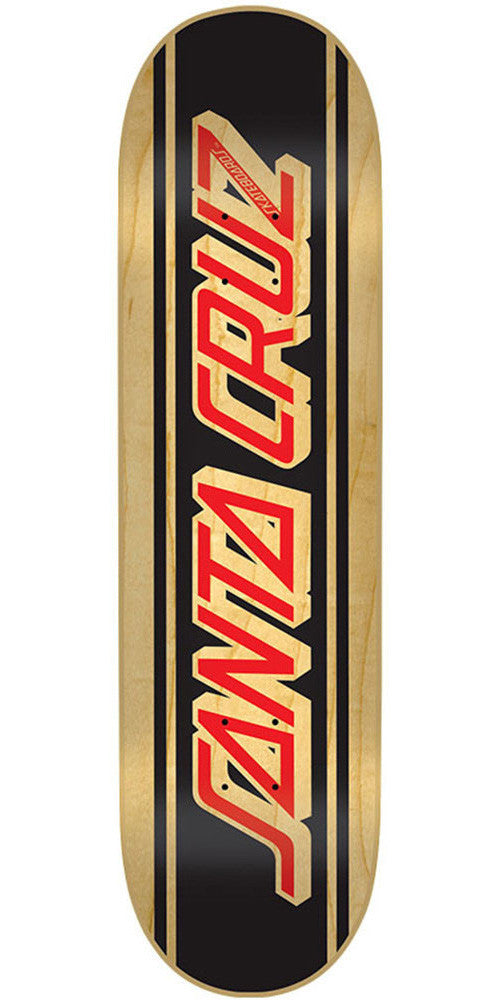 Santa Cruz Natural Classic Strip - Black/Natural - 31.8in x 8.25in - Skateboard Deck