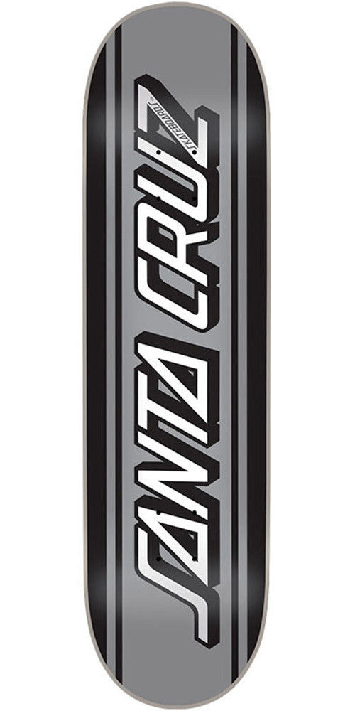 Santa Cruz Silver Classic Strip - Black/Silver - 32.3in x 8.6in - Skateboard Deck