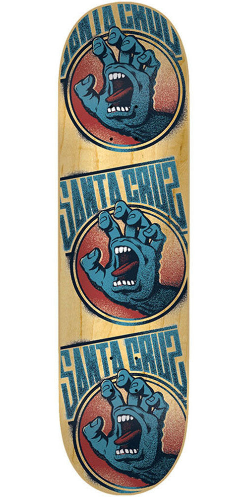 Santa Cruz Screaming Tag - Natural - 31.5in x 7.6in - Skateboard Deck