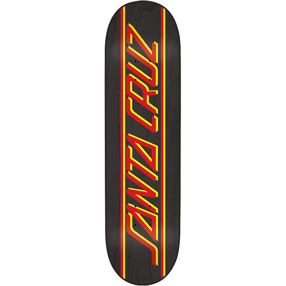 Santa Cruz Classic Strip - Black - 31.6in x 8.0in - Skateboard Deck