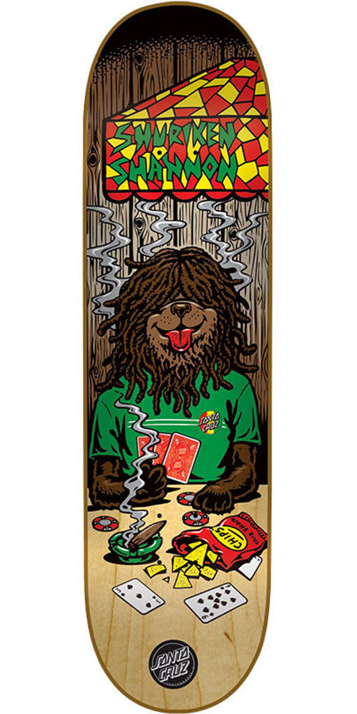 Santa Cruz Shannon Poker Dog - Multi - 31.6in x 8.0in - Skateboard Deck
