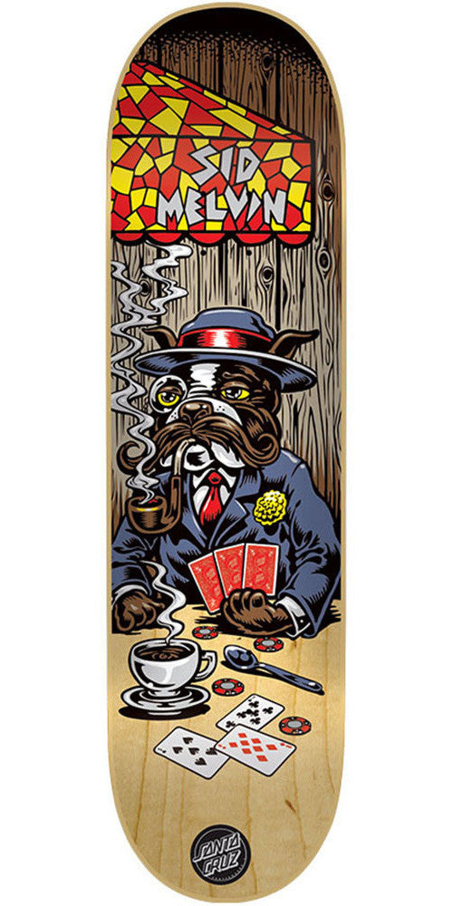 Santa Cruz Melvin Poker Dog - Multi - 31.7in x 8.125in - Skateboard Deck
