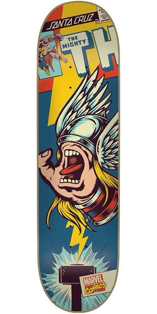 Santa Cruz Marvel Thor Hand - Blue - 31.7in x 8.26in - Skateboard Deck