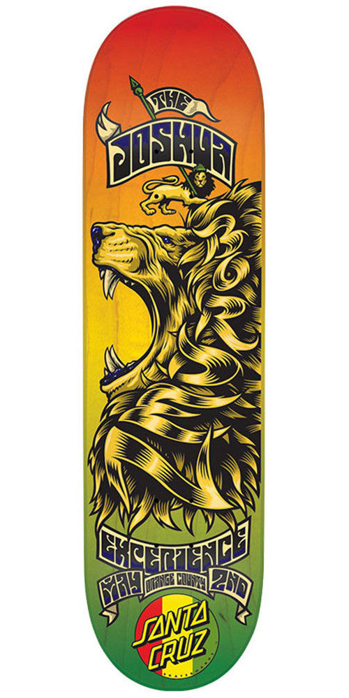 Santa Cruz Borden Concert Eight Two - Rasta - 31.8in x 8.25in - Skateboard Deck