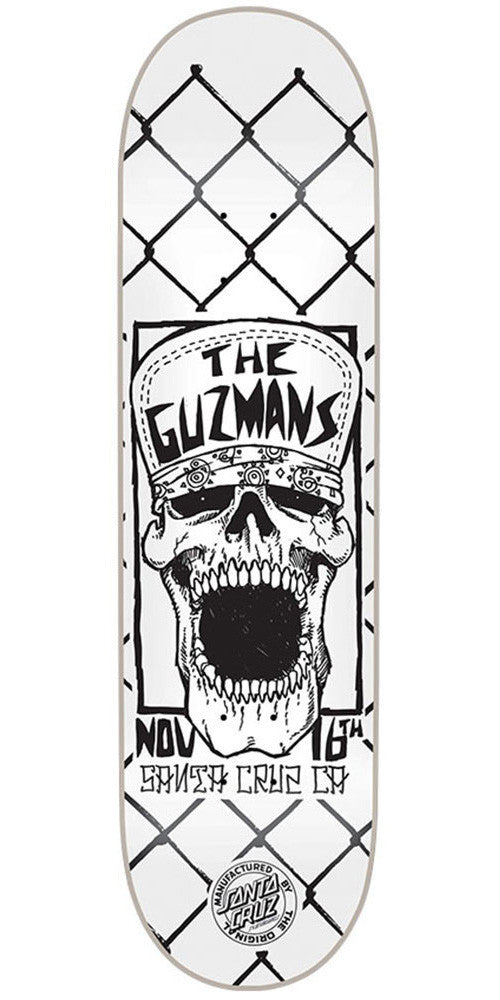 Santa Cruz Guzman Concert - White - 31.9in x 8.2in - Skateboard Deck