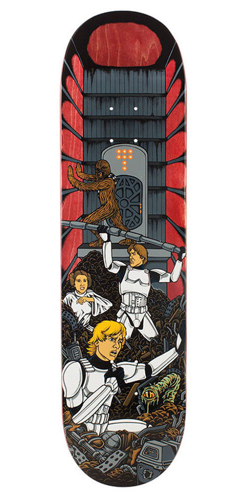 Santa Cruz Star Wars Trash Compactor Scene - Multi - 32.0in x 8.375in - Skateboard Deck