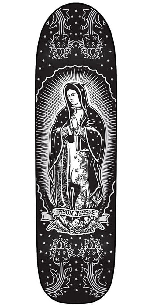Santa Cruz Jessee Mono - Black/White - 32.5in x 8.9in - Skateboard Deck