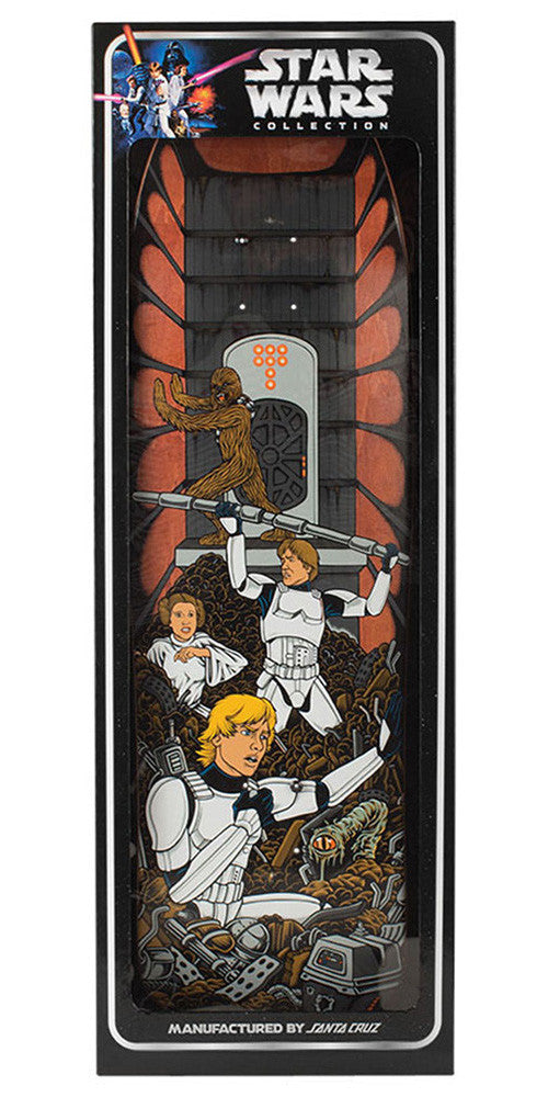 Santa Cruz Star Wars Trash Compactor Scene Collectible - Multi - 31.7in x 9.35in - Skateboard Deck
