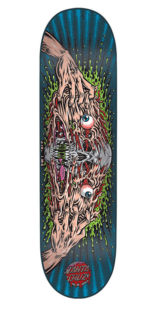 Santa Cruz Face Melter Team - Multi - 31.7in x 8.125in - Skateboard Deck