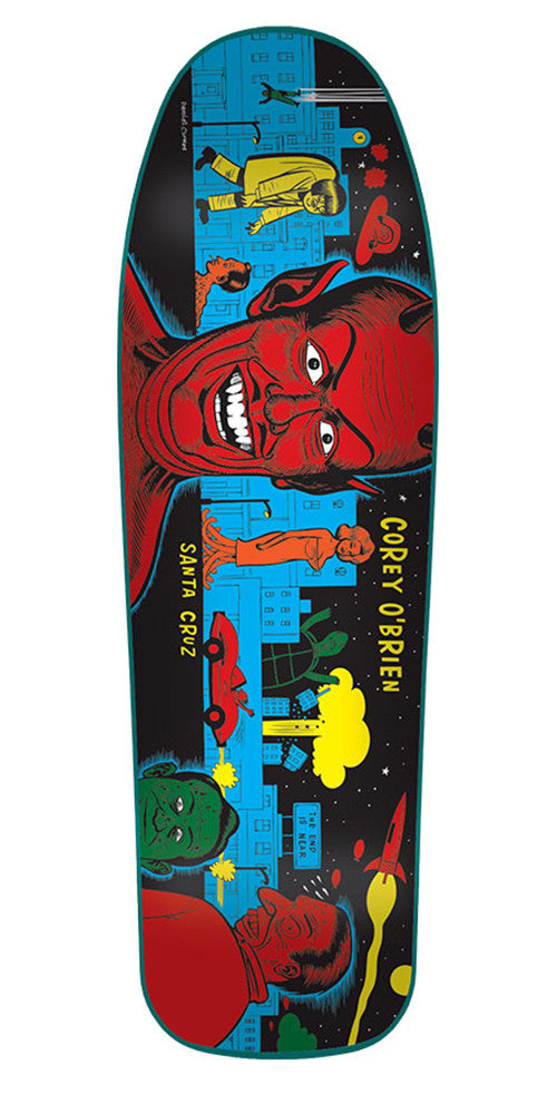 Santa Cruz O'Brien Mutant City Blue Stain Reissue - Multi - 31.86in x 9.75in - Skateboard Deck