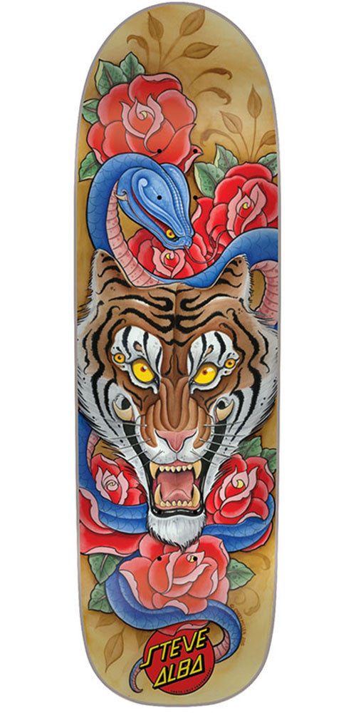 Santa Cruz Salba Tiger Flash Pro - Multi - 32.5in x 8.9in - Skateboard Deck