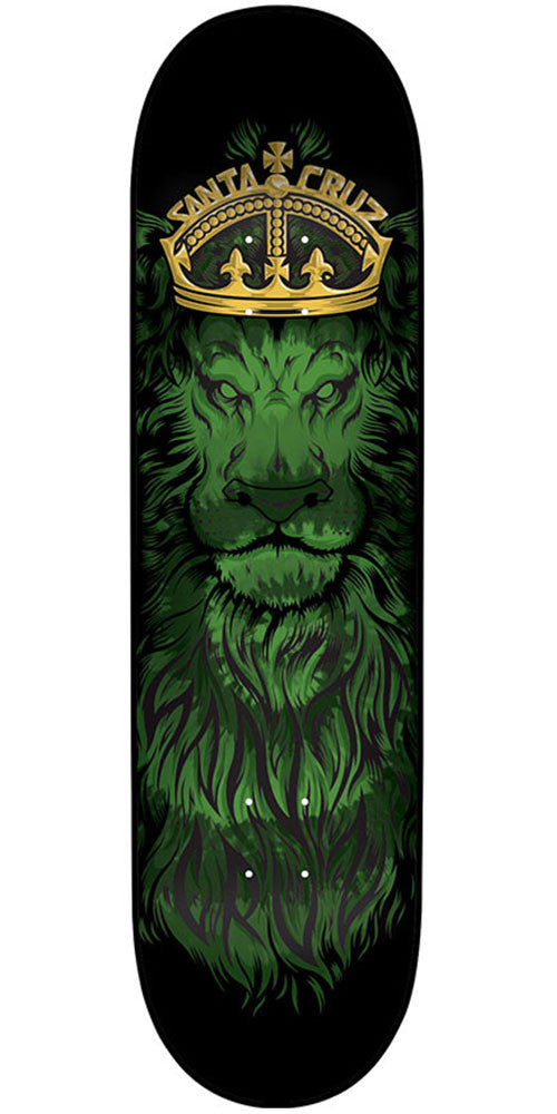 Santa Cruz Lion God Team - Black - 33.0in x 9.0in - Skateboard Deck
