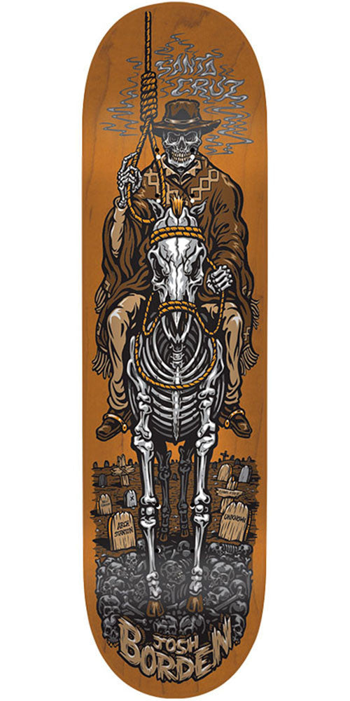 Santa Cruz Borden Cowboy Pro - Brown - 8.6in x 32.3in - Skateboard Deck