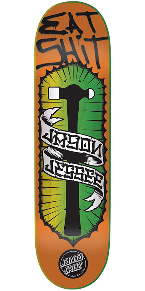 Santa Cruz Jessee Eat Shit Pro - Orange - 8.5in x 32.2in - Skateboard Deck