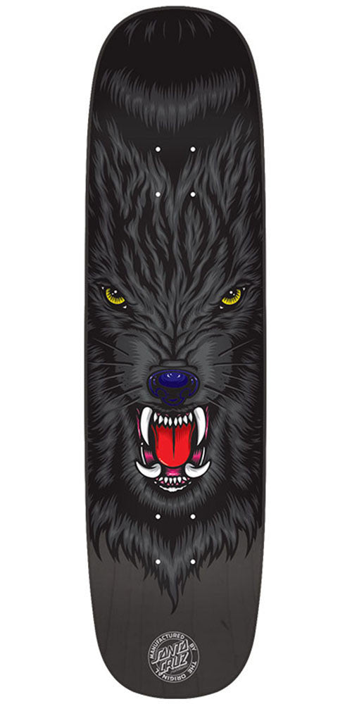 Santa Cruz Knox Wolf Pro - Black - 8.47in x 32.25in - Skateboard Deck