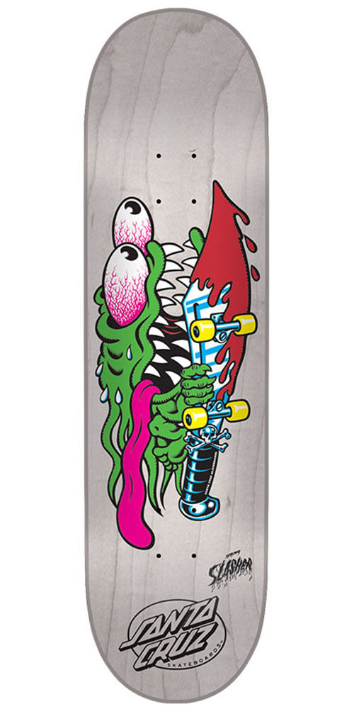 Santa Cruz Slasher Eight Team - Off White - 8.0in x 31.6in - Skateboard Deck