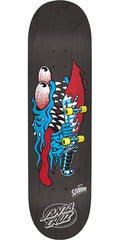 Santa Cruz Slasher Eight Five Team - Black - 8.5in x 32.2in - Skateboard Deck