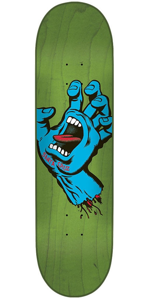 Santa Cruz Minimal Hand Micro Team - Green - 6.75in x 28.5in - Skateboard Deck
