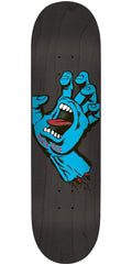 Santa Cruz Minimal Hand Seven Eight Team - Black - 7.8in x 31.7in - Skateboard Deck