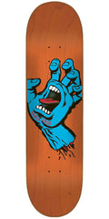 Santa Cruz Minimal Hand Eight Team - Orange - 8.0in x 31.6in - Skateboard Deck
