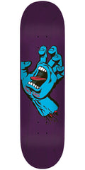 Santa Cruz Minimal Hand Eight Three Team - Purple - 8.375in x 32.0in - Skateboard Deck