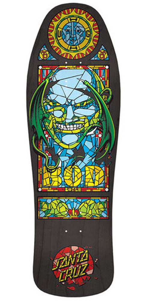 Santa Cruz Boyle Stained Glass Reissue - Black - 10.0in x 31.0in - Skateboard Deck