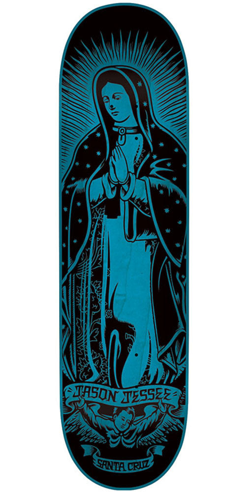 Santa Cruz Jessee Guadalupe Eight Five Pro - Blue/Black - 8.5in x 32.2in - Skateboard Deck