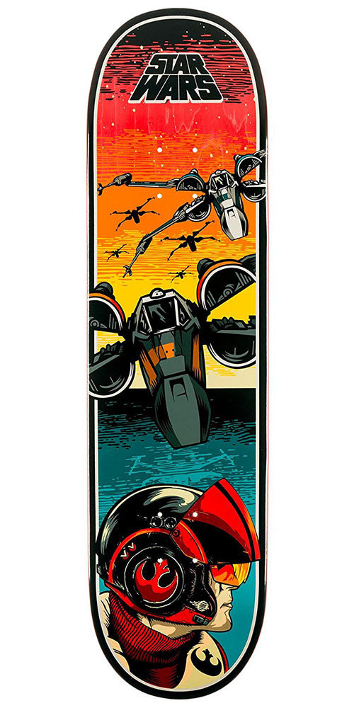 Santa Cruz Star Wars Episode VII Poe Dameron Team - Multi -8.375in x 32in - Skateboard Deck