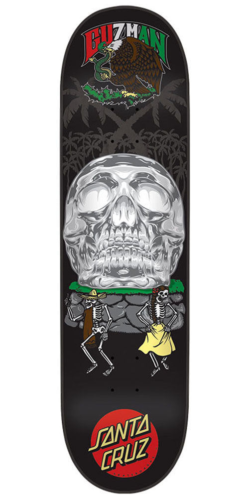 Santa Cruz Guzman Dance With Death Pro - Black - 8.2in x 31.69in - Skateboard Deck
