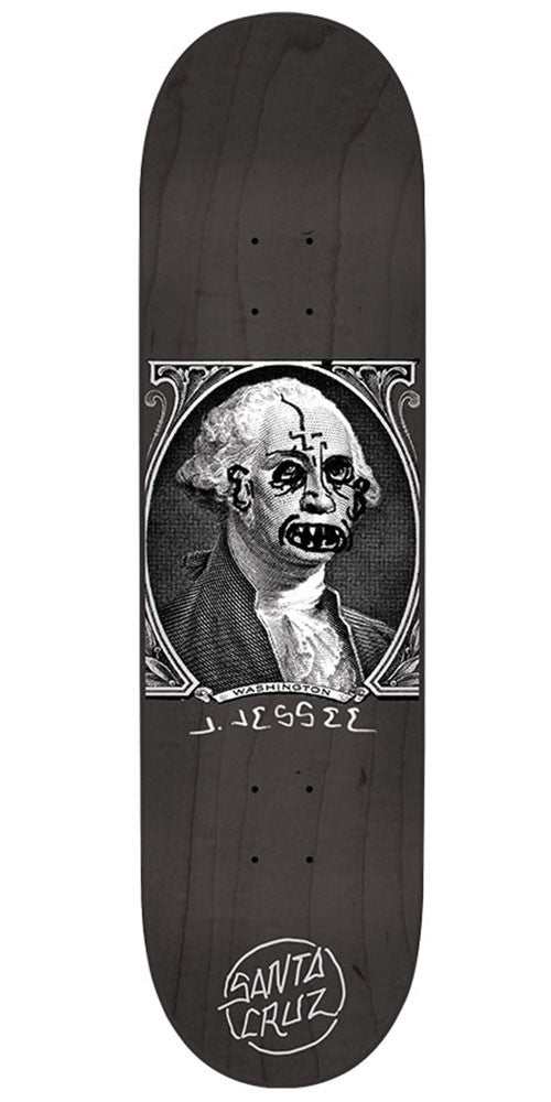 Santa Cruz Jessee Boner Dollar Pro - Black - 8.5in x 32.2in - Skateboard Deck